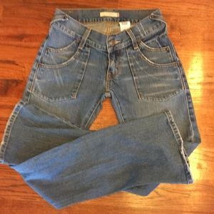 Awesome Size 1M Levi's Blue Denim JEANS Distressed